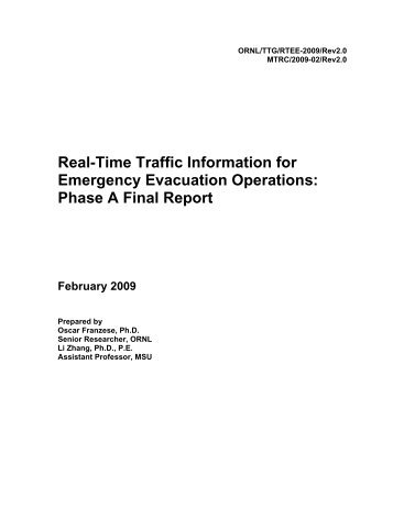 Real-Time Traffic Information for Emergency Evacuation Operations ...