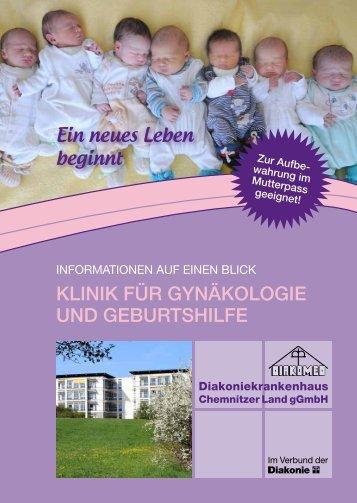 Broschüre für werdende Eltern - Diakoniekrankenhaus Chemnitzer ...