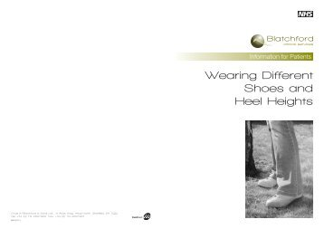 Wearing Different Shoes and Heel Heights - Blatchford