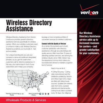 Wireless Directory Assistance - Verizon
