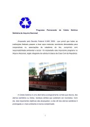 1 Programa Permanente de Coleta Seletiva Solidária do Arquivo ...