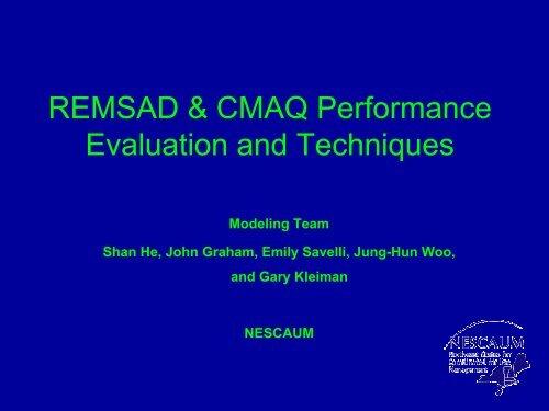 REMSAD & CMAQ Performance Evaluation and ... - MARAMA