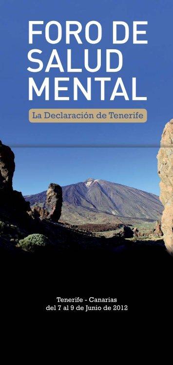 Declaración de Tenerife. - Asociación Española de Neuropsiquiatría