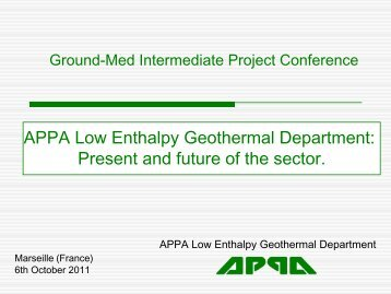 INDUSTRIAL ACTIVITIES IN SPAIN - GROUND-MED project