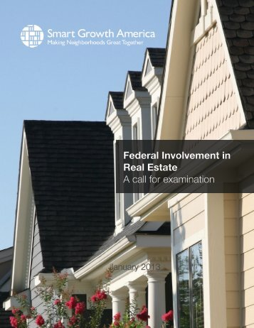 Federal Involvement in Real Estate: A call for examination (PDF)