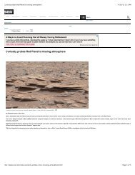 Curiosity probes Red Planet's missing atmosphere - University of ...
