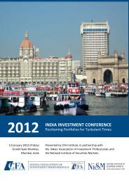 2012 INDIA INVESTMENT CONFERENCE - Society