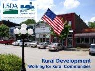 USDA Rural Development - NADO.org