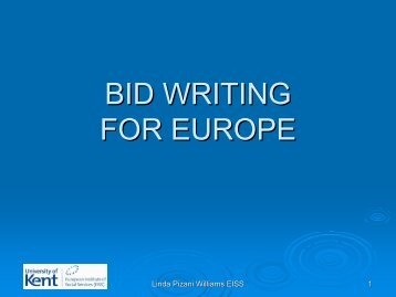 Bid Writing for EU Funding - CEP, the European Organisation for ...