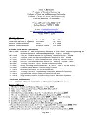 Instructor Curriculum Vitae - Artie McFerrin Chemical Engineering ...