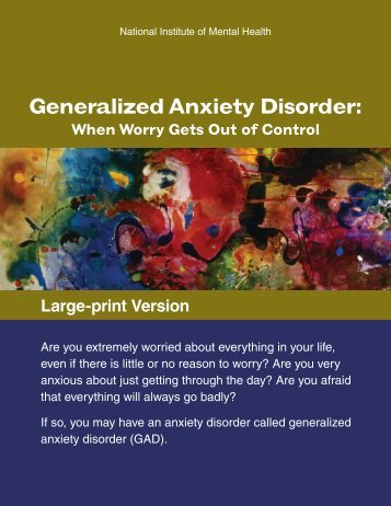 Generalized Anxiety Disorder - NIMH - National Institutes of Health