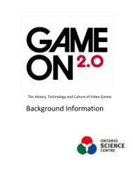 Game On 2.0 Staff Guide - Ontario Science Centre