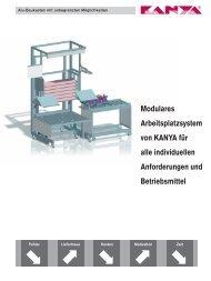 Modulares Arbeitsplatzsystem von KANYA für alle ... - Kanya AG
