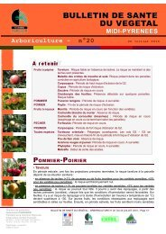 Bulletin de santé du végétal n°20 - DRAAF Midi-Pyrénées