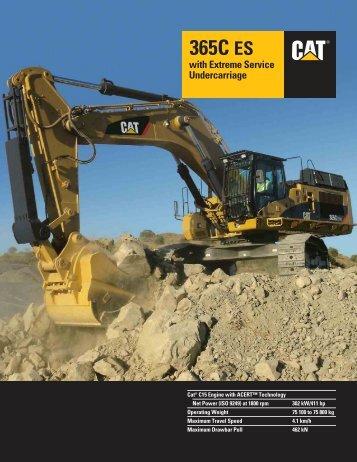 365C ES Hydraulic Excavator