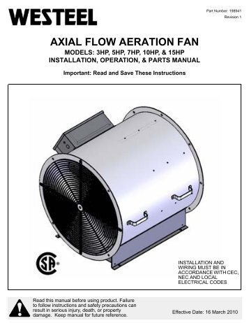 198941 Axial Fan INSTALLATION INSTRUCTIONS.pdf - Westeel