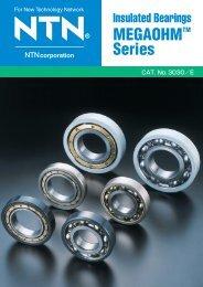 Insulated Bearings Megaohm Series - NTN