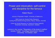 Power and intoxication: self-control and discipline for the famous
