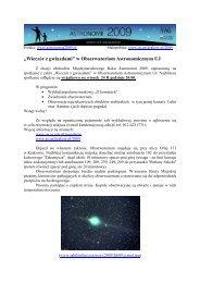 """""""Wieczór z gwiazdami"""" w Obserwatoriom Astronomicznym UJ"""
