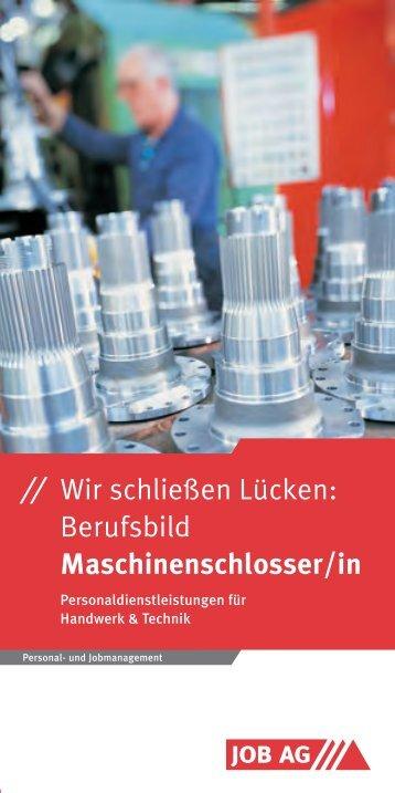 Berufsbild Maschinenschlosser/in - Job AG