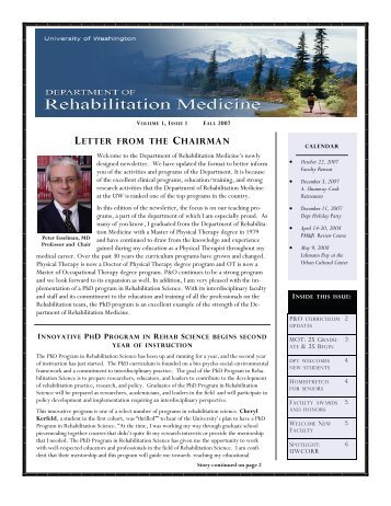 letter from the chairman - Department of Rehabilitation Medicine ...