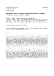 Regeneration strategies, disturbance and plant interactions as ...