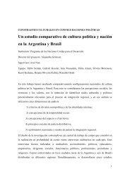 Un estudio comparativo de cultura política y nación en la Argentina ...