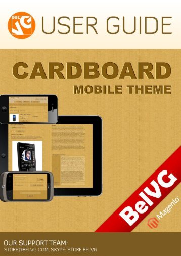 Cardboard Mobile Theme - BelVG Magento Extensions Store