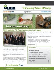 THE Heavy News Weekly - Manitoba Heavy Construction Association