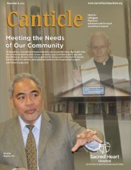 Canticle Newsletter: 11.8.11 (1 MB) - Sacred Heart Hospital