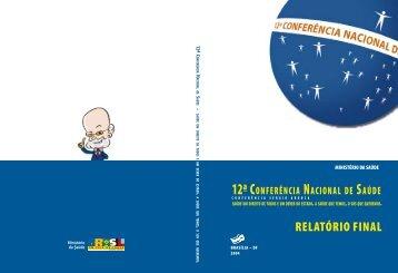 RELATÓRIO FINAL - Conselho Nacional de Saúde - Ministério da ...