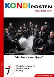 Kondiposten november 2007 - Idrætsforeningen for handicappede i ...
