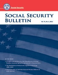 Social Security Bulletin, Vol. 71, No. 1, 2011