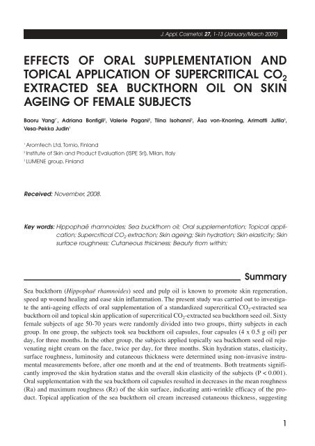 effects of oral supplementation and topical application of ...