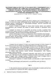 selezione pubblica per titoli e colloquio per il conferimento di n. 3 ...