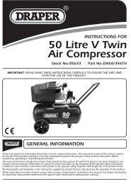 50 Litre V Twin Air Compressor - Twinmax