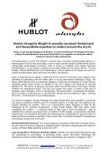 Hublot alongside Alinghi to proudly represent Switzerland ... - Westime - Page 3