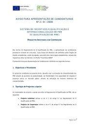 Aviso para Apresentação de Candidaturas n.º 2/SI/2008 - Qren