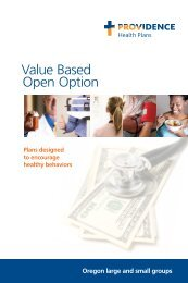 An employer guide to Value Based Open Option Plans - Providence ...