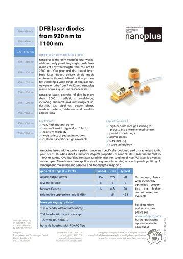1550 Nm Cw Light Source Ingaasp Mqw Dfb Laser Diode
