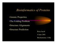 Bioinformatics of Proteins - Biochemistry 118