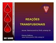REAÇÕES TRANSFUSIONAIS - Unesp