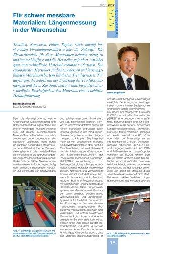 Für schwer messbare Materialien: Längenmessung ... - Elovis GmbH
