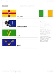 Drapeaux des provinces irlandaises