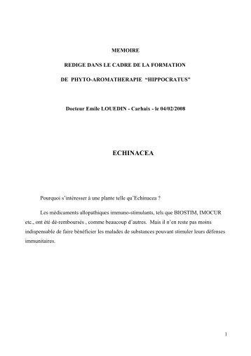 MEMOIRE Dr LOUEDIN Echinacea - Hippocratus