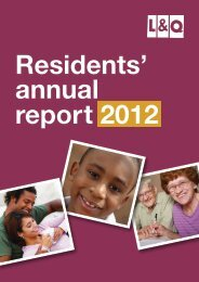 Residents annual report 2012 - London & Quadrant Group