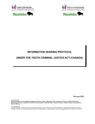 information sharing protocol under the youth criminal justice act