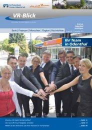 VR-Blick - Ausgabe 7 - September 2012 - Raiffeisenbank Kürten ...