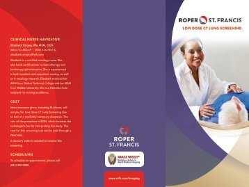 low dose CT lung sCreening - Roper St. Francis Healthcare
