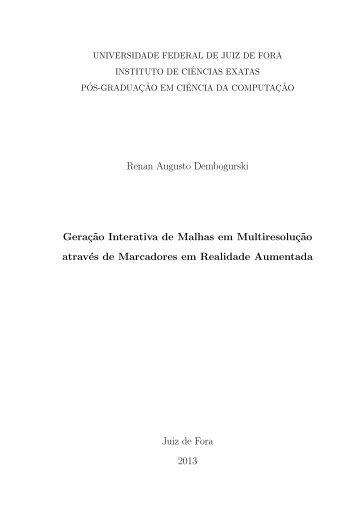 Geração Interativa de Malhas em Multiresolução ... - GCG - UFJF